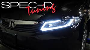 honda civic headlight specdtuning installation 2012 2015 honda civic fiber