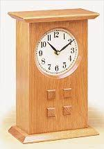 contemporary inlaid solid wood mantel shelf or desk clock u10
