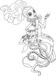 free printable monster high coloring pages kala mer u0027ri monster
