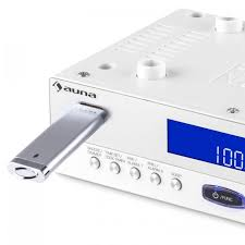 radio de cuisine kr 100 wh radio de cuisine encastrable bluetooth micro usb mp3 mains