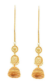 gold earrings online buy gold plated beaded jhumki earrings online best prices