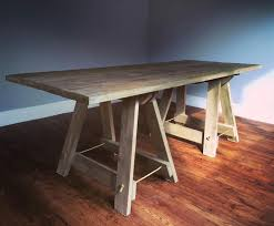 extension dining table plans wood trestle table plans solid two extension leaves wooden hire