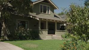 Two Story Craftsman by Day Pan Right Up Wide Two Story Brown Wood Clapboard Craftsman