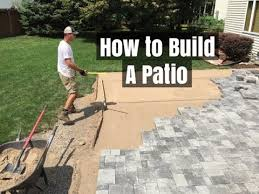 How To Build A Stone Patio by How To Build A Patio An Easy Do It Yourself Project Youtube