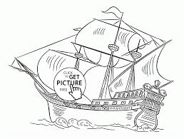 spanish galleon coloring page for kids transportation coloring