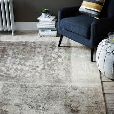 distressed rococo wool rug platinum west elm uk