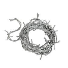 amazon com beistle 00115 s silver barbed wire garland kitchen