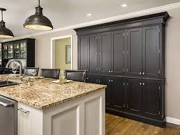 gray kitchen cabinets with white crown molding caring for and cleaning your painted kitchen cabinets