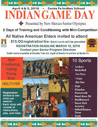 New Mexico Travel Planners images Indian game day sports clinics new mexico senior olympics png