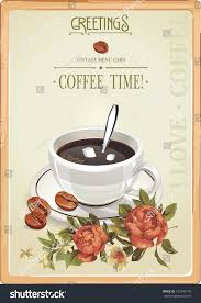 Beautiful Coffee Cups Beautiful Coffee Time Party Invitation Cup Stock Vector 162946145