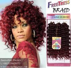 bohemian hair for crochet braids aliexpress com buy new burgundy bug ombre color freetress