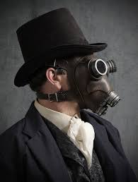 Gas Mask Costume Steampunk Gas Mask No 66 In Black Iron Leather
