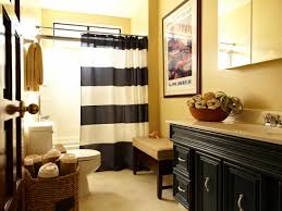 yellow bathroom with old world charm this yellow and black