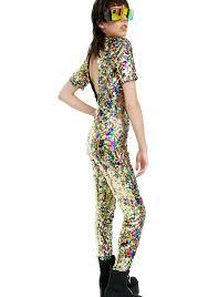 sleeve sequin jumpsuit jaded rainbow sequin jumpsuit dolls kill