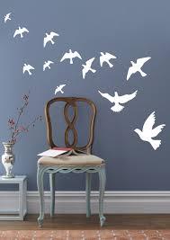 peace pigeons birds wall decals stickers vinyl decor wall decor sticker home housewares zoom