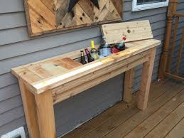patio sideboard buffet table with drink cooler by repurposedbyrob