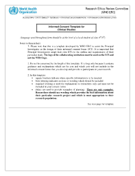 fillable online who informed consent form template for clinical