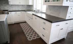ballard designs kitchen rugs black and white kitchen rugs create drama with black carpets and