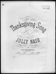 the thanksgiving song library of congress