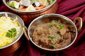 cuisine lens rogan josh curry bowls stock image image of bowls dinner 34080289