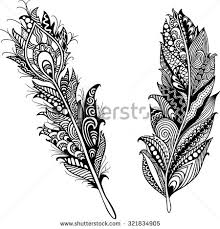 feathers template trendy stock vector 321834905