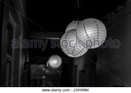 Paper Hanging Lamp Paper Hanging Lamp Black And White Photo Stock Photo Royalty