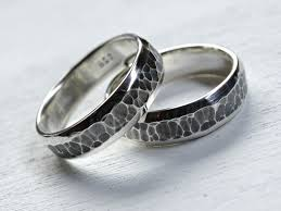 promise ring engagement ring and wedding ring set buy a handmade rustic wedding ring set silver matching promise