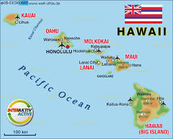 map of hawaii island map of hawaiian islands united states map in the atlas of the