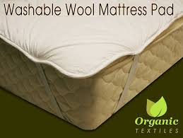 Organic Futon Cover Amazon Com Wool Mattress Pad With Organic Cotton Covering Twin