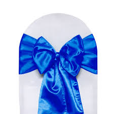royal blue chair sashes satin sashes royal blue pack of 10 your chair covers inc