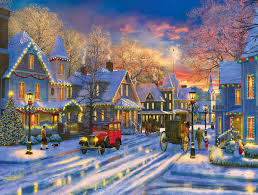 Small Town Small Town Holiday Jigsaw Puzzle Puzzlewarehouse Com