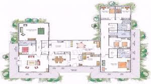 courtyard floor plans stylish u shaped floor plan house plans home designs