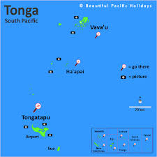 tonga map map of tonga islands in the south pacific islands
