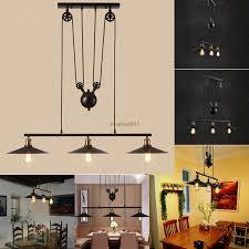 industrial pulley pendant light retro vintage edison industrial pulley pendant light artistic