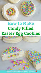 candy filled easter eggs bake a this easter candy filled sugar cookie easter egg