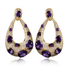 purple earrings why big earrings for women are so popular jewelry