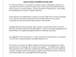 iso 9001 quality policy statement example and 100 iso 9001 quality