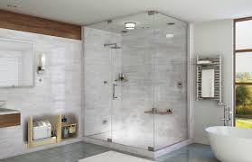 Shower In Bathroom Mr Steam Shower In Residential Bathroom With Towel Warmer
