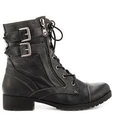 ladies black biker boots bruze black ll shoe lacing black and shoe bag