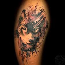 rollovertattoo indonesia wolf tattoo wolf watercolor tattoo