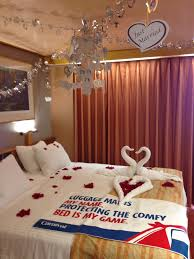 stateroom decorated by carnival victory honeymoon decorations