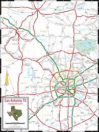 Texas Highway Map San Antonio U0026 Texas Hill Country Map