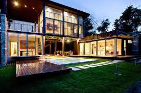 awesome modern design modern terraces on homes with warm lamp can