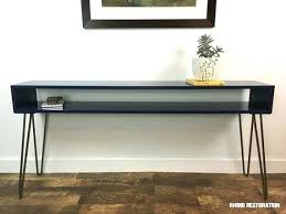 60 inch console table 60 console table wide mid century modern console table with hairpin