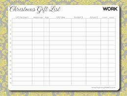 christmas gift list an organized christmas and your free gift organizing