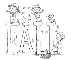 free fall printable coloring pages funycoloring