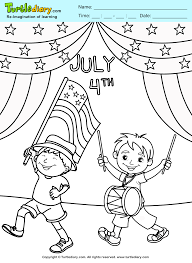 4th of july parade coloring sheet turtle diary