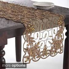 gold christmas table runner handmade beaded table runner free shipping on orders over 45