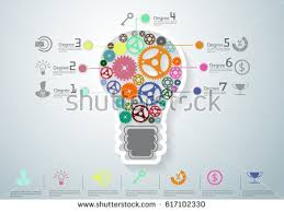 design idea light bulbs cog modern design idea stock vector 617102330 shutterstock