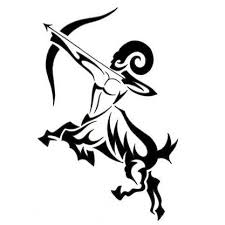 tribal virgo and sagittarius zodiac tattoo stencil in 2017 real